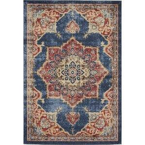 Nathanson Blue Red Area Rug