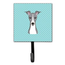 Checkerboard Italian Hound Leash Holder and Wall Hook by Caroline's Treasures