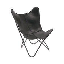 Real Leather Side Chair by Cole & Grey