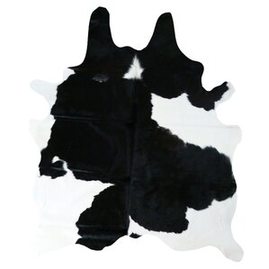 natural cowhide blackwhite area rug
