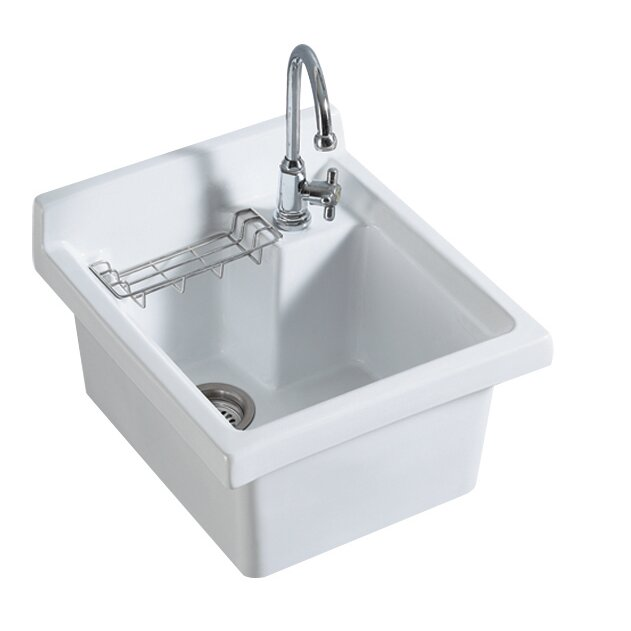 vitreous china 21 x 2125 single bowl kitchen sink - White Single Basin Kitchen Sink