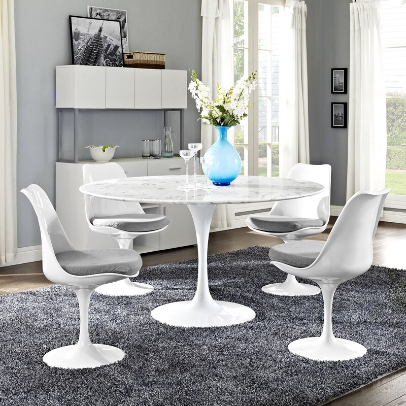 Langley Street Julien Contemporary Round Dining Table Wayfair