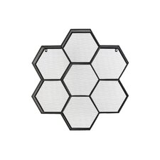 Polyhexagonal Display Wall Shelf in Black by Urban Trends