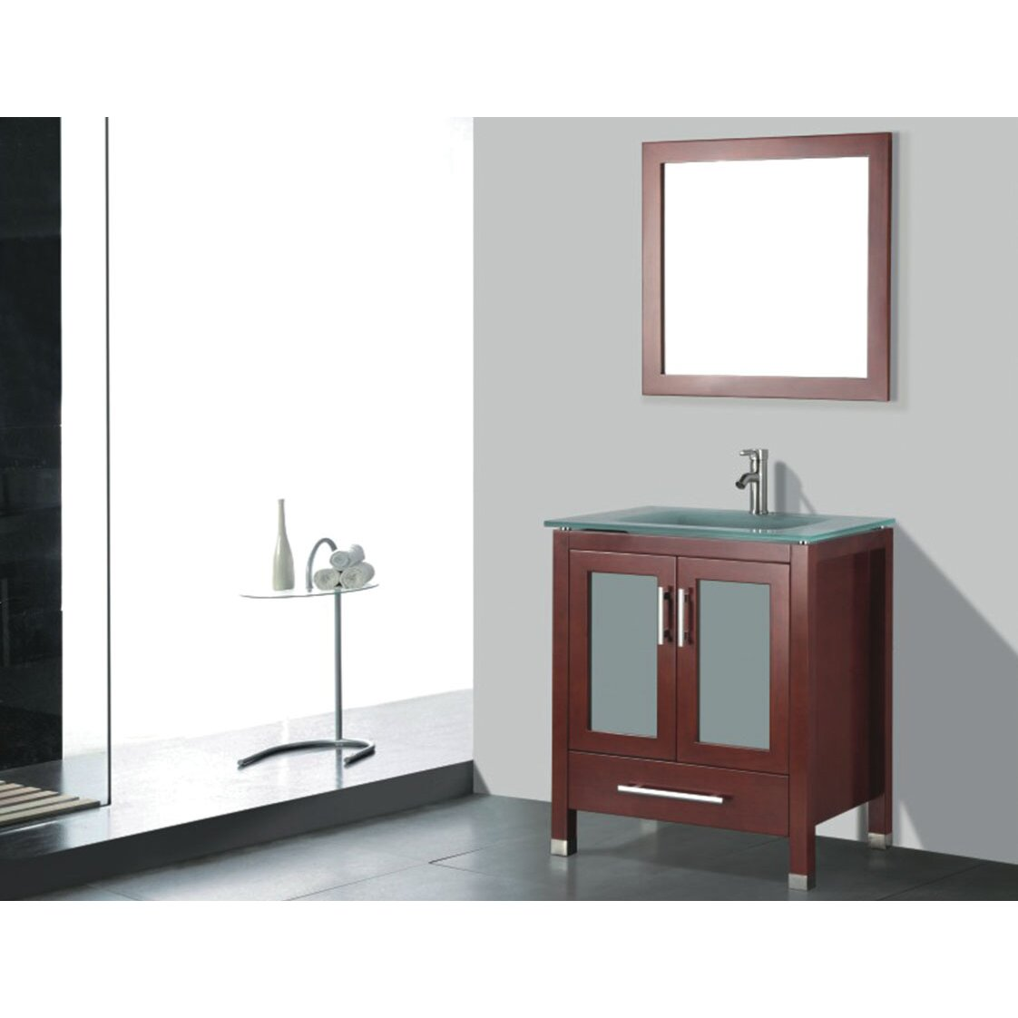 Bathroom sink and mirror - Amara 24 Single Bathroom Vanity Set With Mirror