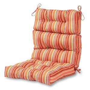 High Back Outdoor Lounge Chair Cushion