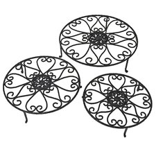 Hearts Plant Stand (Set of 6) by Red Carpet Studios LTD