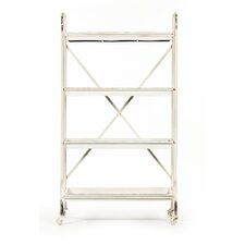 Diego 59'' H Four Shelf Shelving Unit by Zentique Inc.