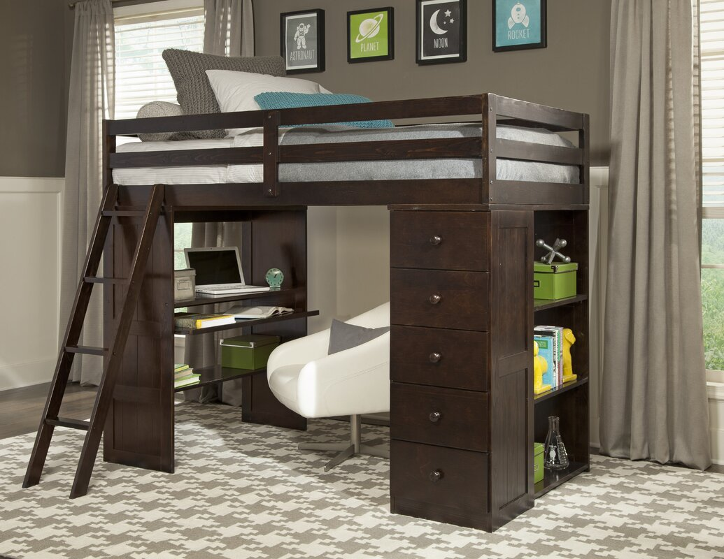 Twin loft bed with storage - Default_name
