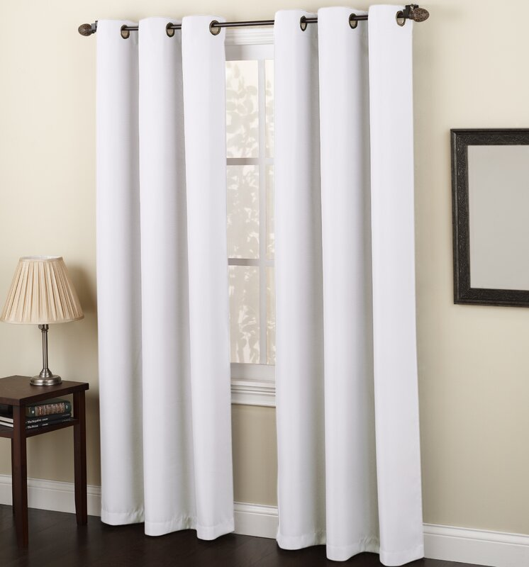 no. 918 montego solid sheer grommet single curtain panel & reviews