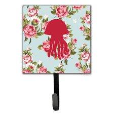Jellyfish Shabby Elegance Roses Leash Holder and Wall Hook by Caroline's Treasures