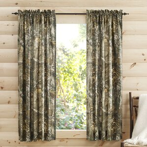 Wonderful Camouflage Semi Sheer Pinch Pleat Curtain Panels (Set Of 2)