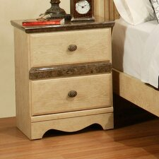 Casa Blanca 2 Drawer Nightstand by Sandberg Furniture