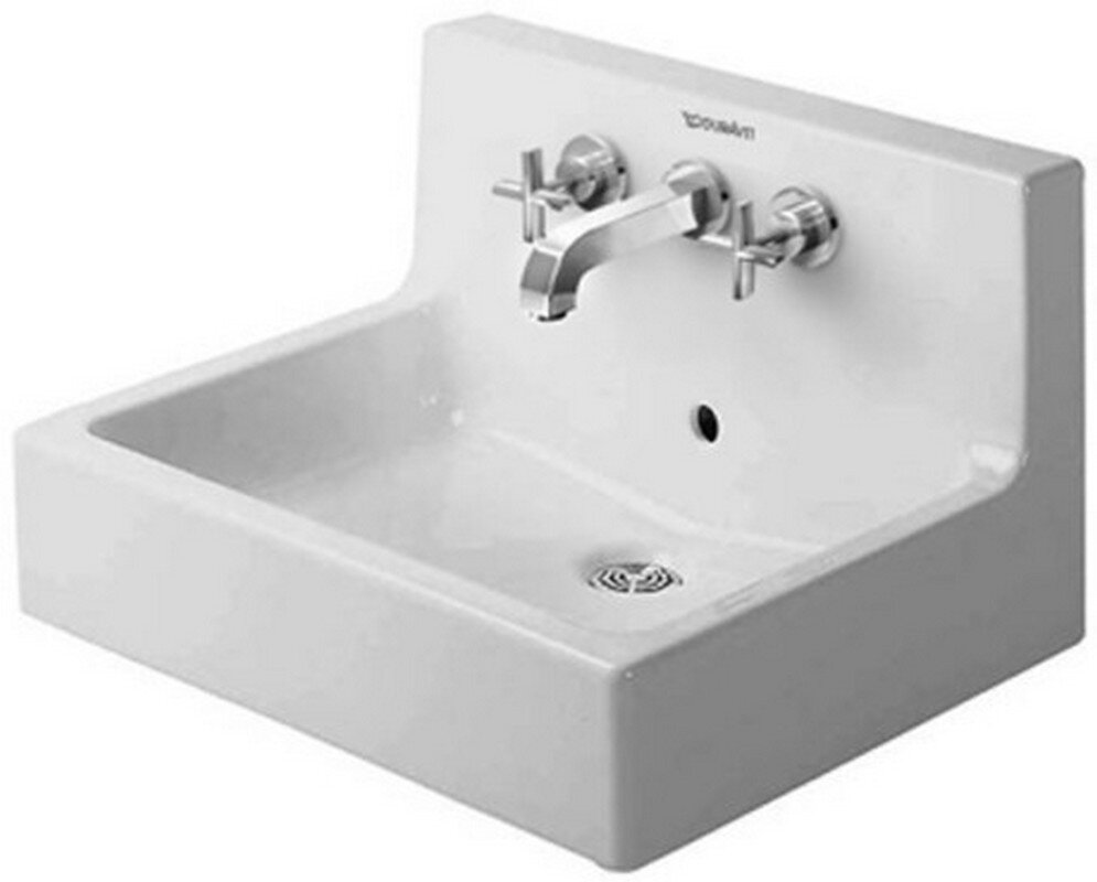 duravit vero  wall mount sink with overflow  reviews  wayfair - defaultname