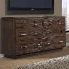 Hudson 6 Drawer Double Dresser by Cresent Furniture