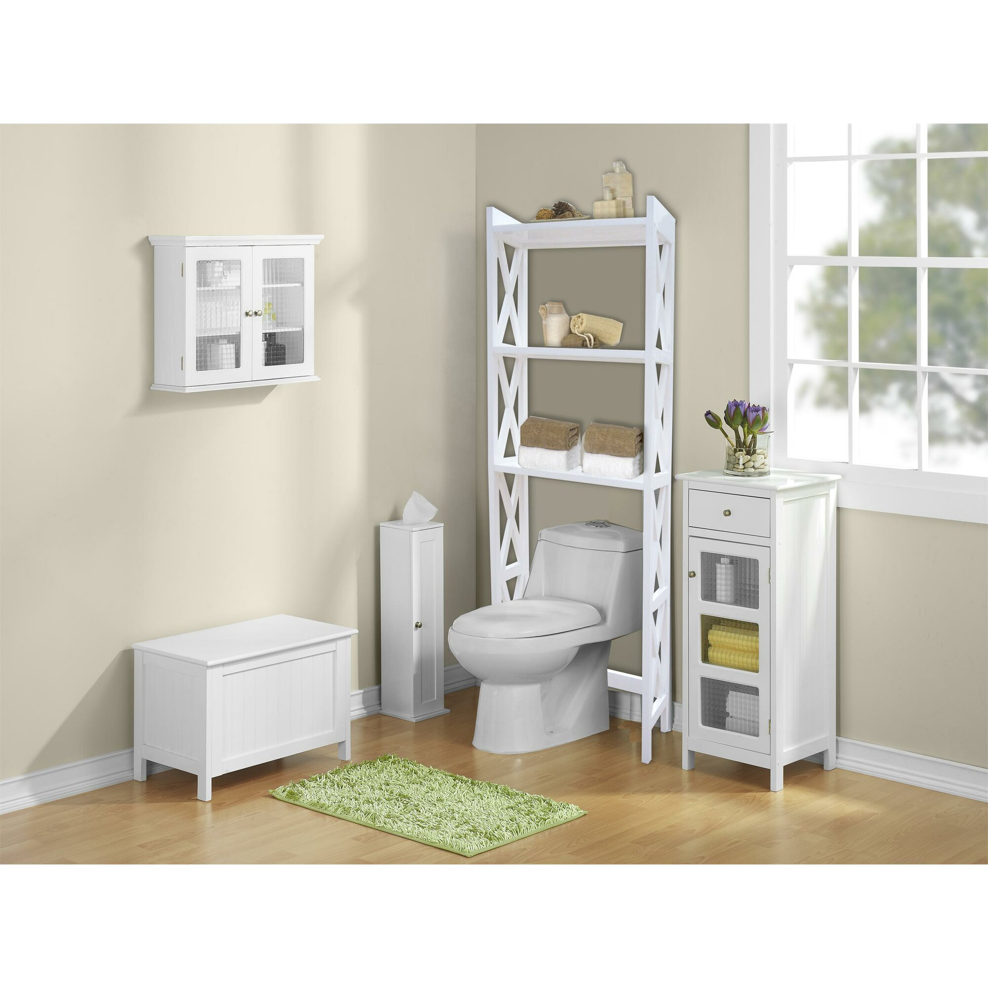 Jenlea Bathroom Space Saver 245 W x 62 H Over the Toilet
