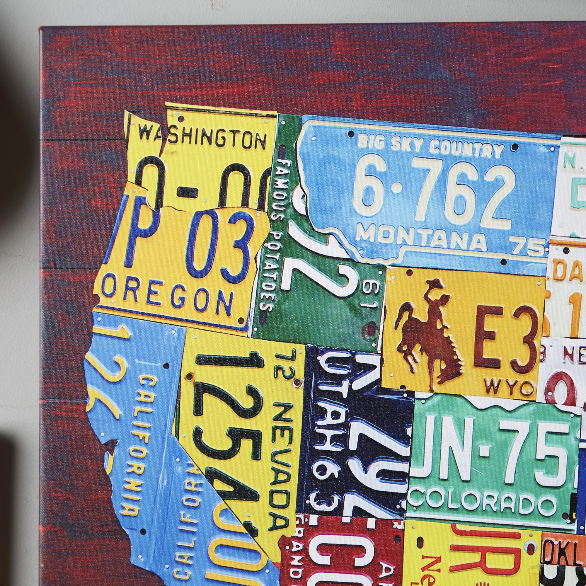 US License Plate Map Crafthubs I Want This NOW Because Of Reasons