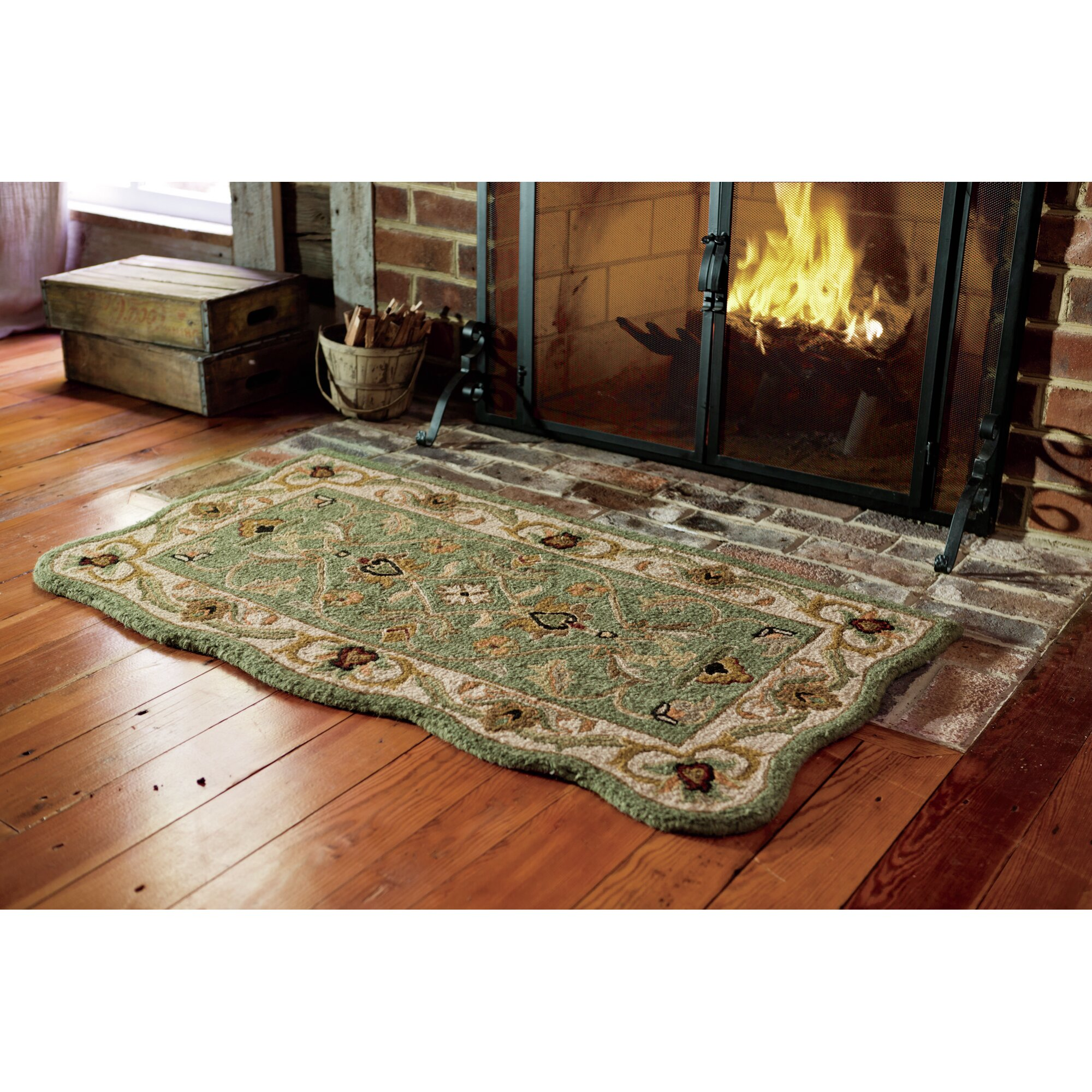 Plow Hearth Scalloped McLean Hearth Rug Reviews Wayfair