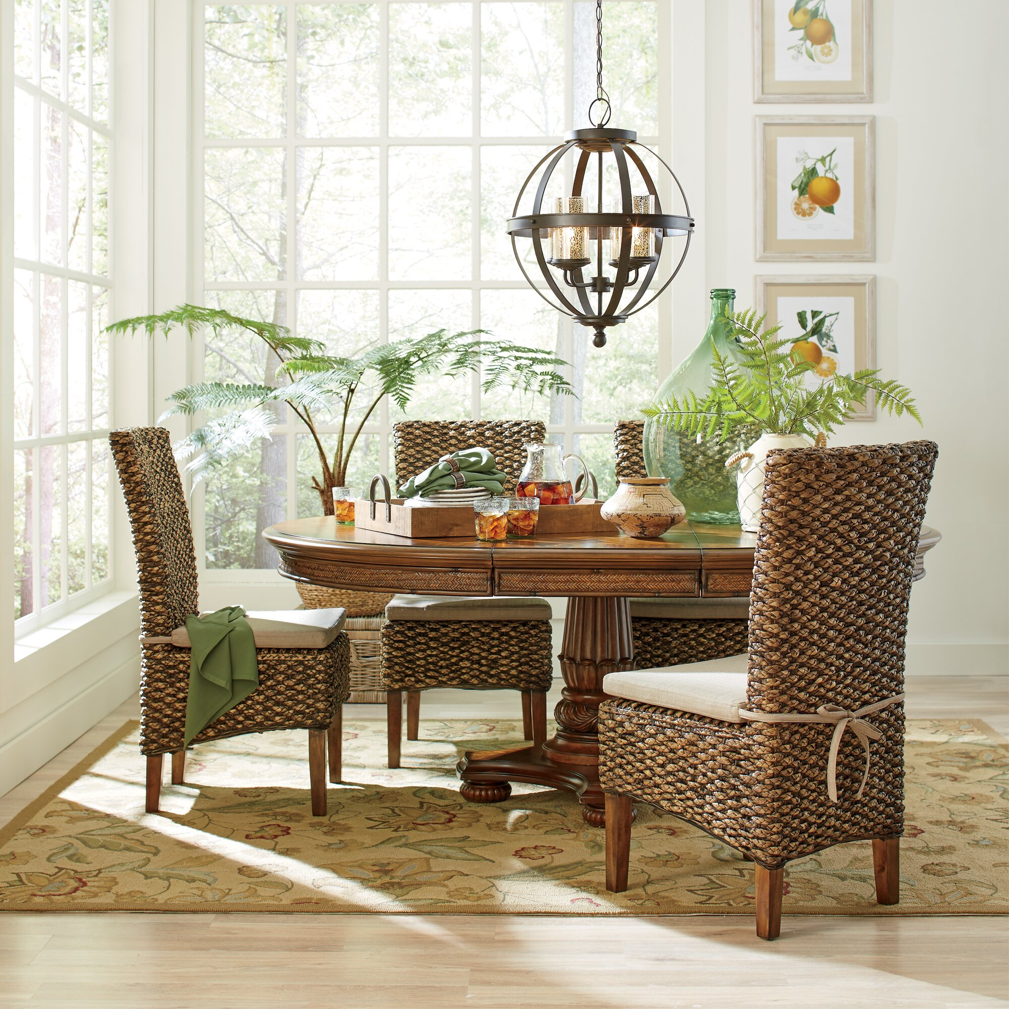 Woven Seagrass Side Chairs Reviews Birch Lane