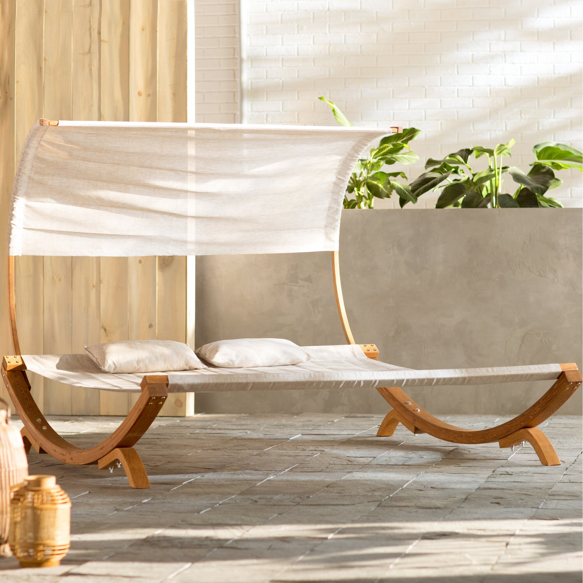 Double Patio Chaise Lounge Chairs Youll Love Wayfair