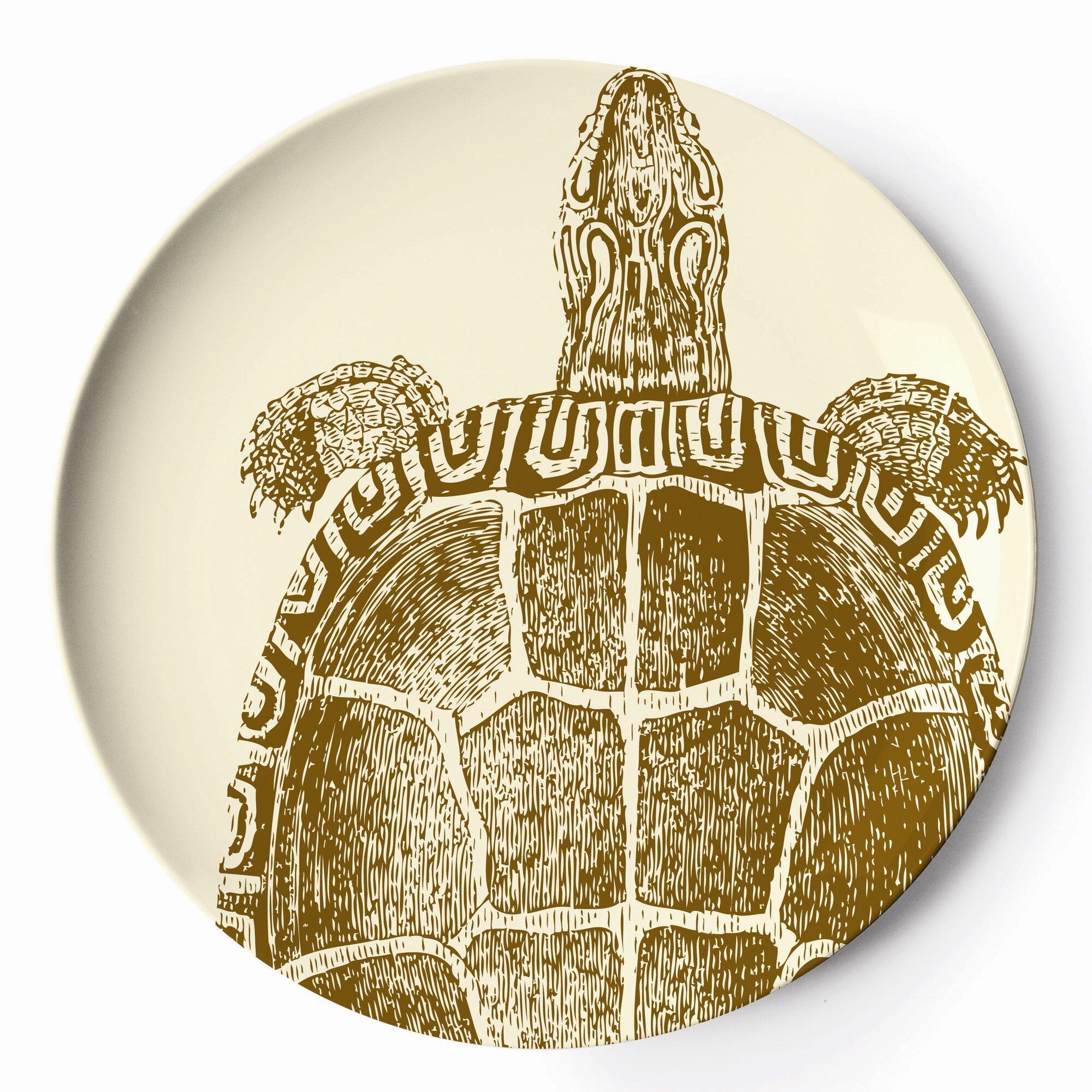 thomas paul sea life melamine platter  reviews  wayfair - sea life melamine platter
