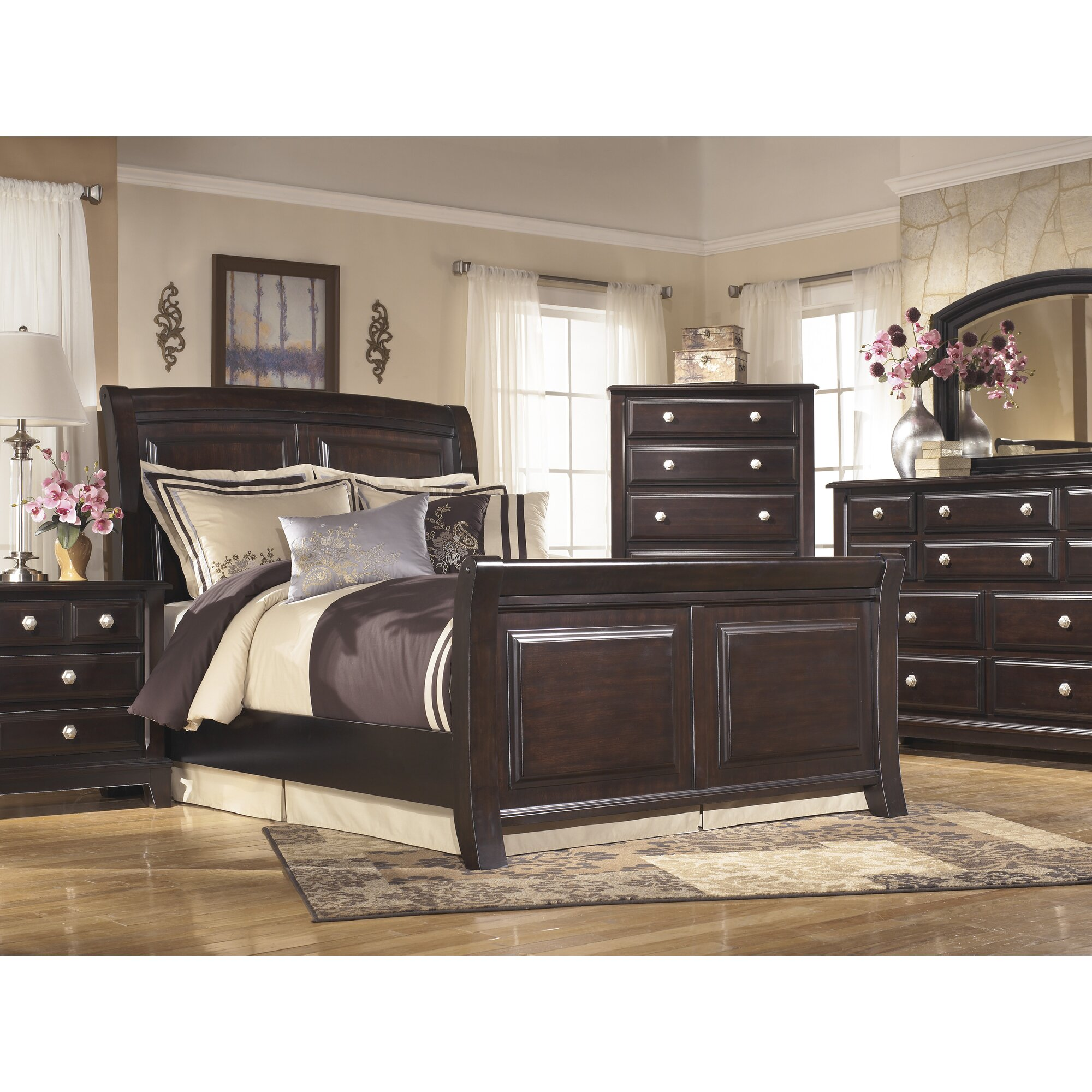 Signature design by ashley ridgley sleigh customizable - Ashley furniture sleigh bedroom set ...