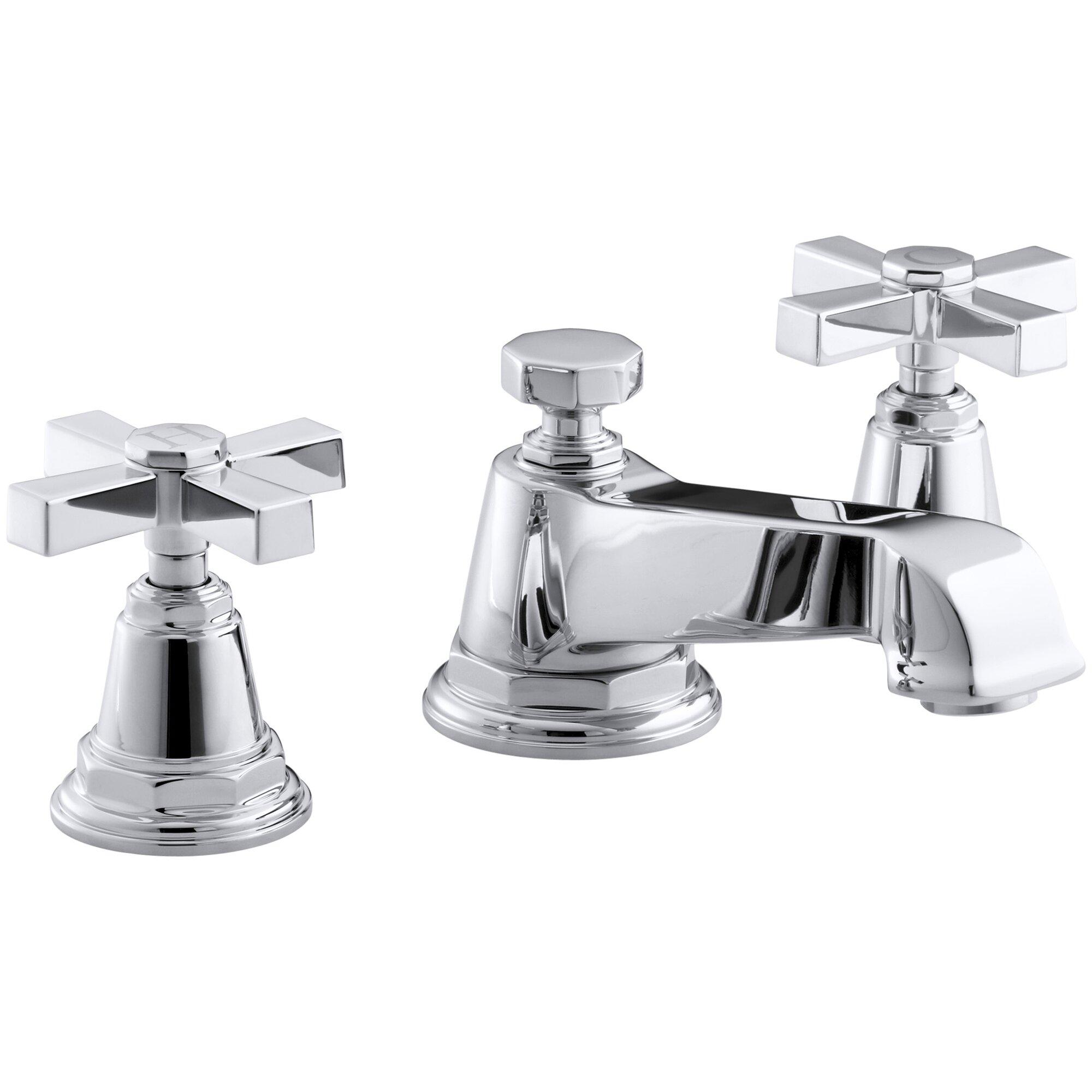 Cross Handle Bathroom Faucet Kohler Pinstripe Pure Widespread Bathroom Sink Faucet With Cross