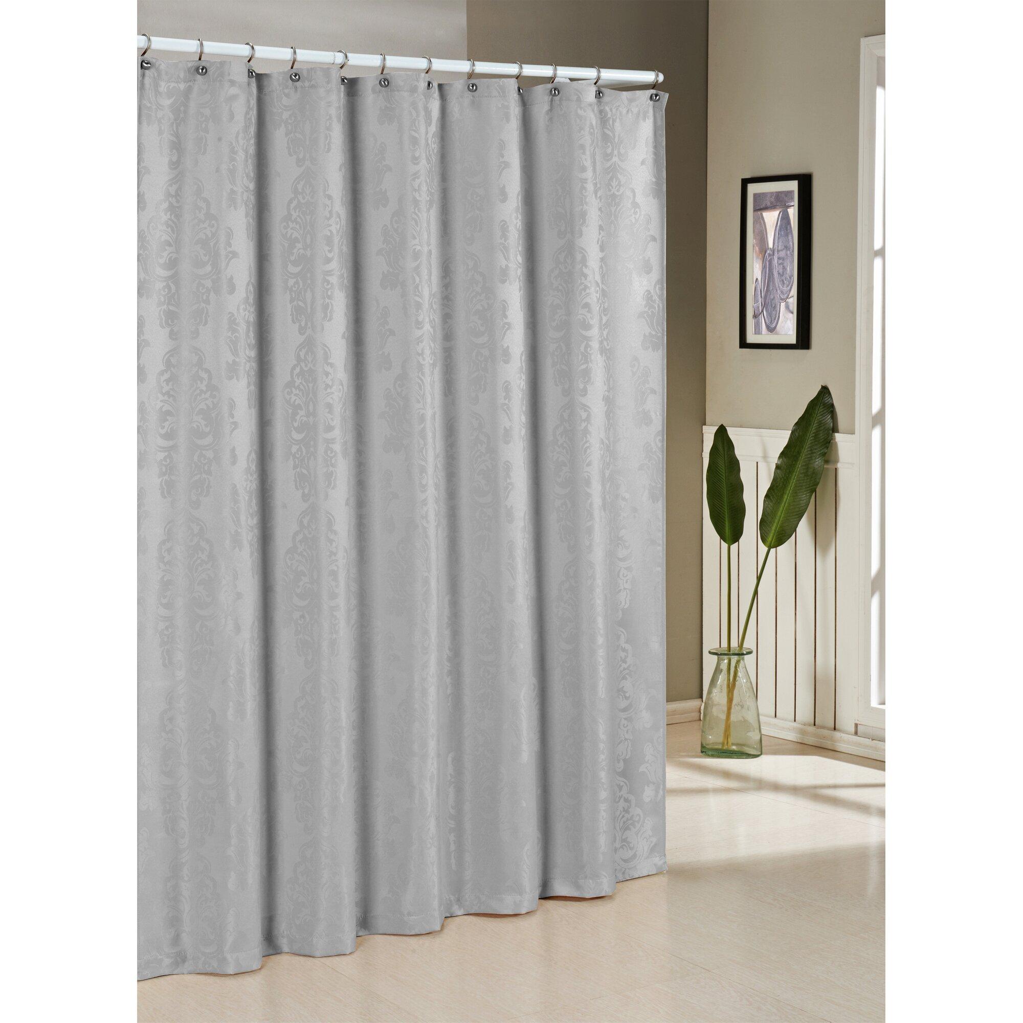DR International Parson Jacquard Shower Curtain  Reviews Wayfair - Beige and gray shower curtain