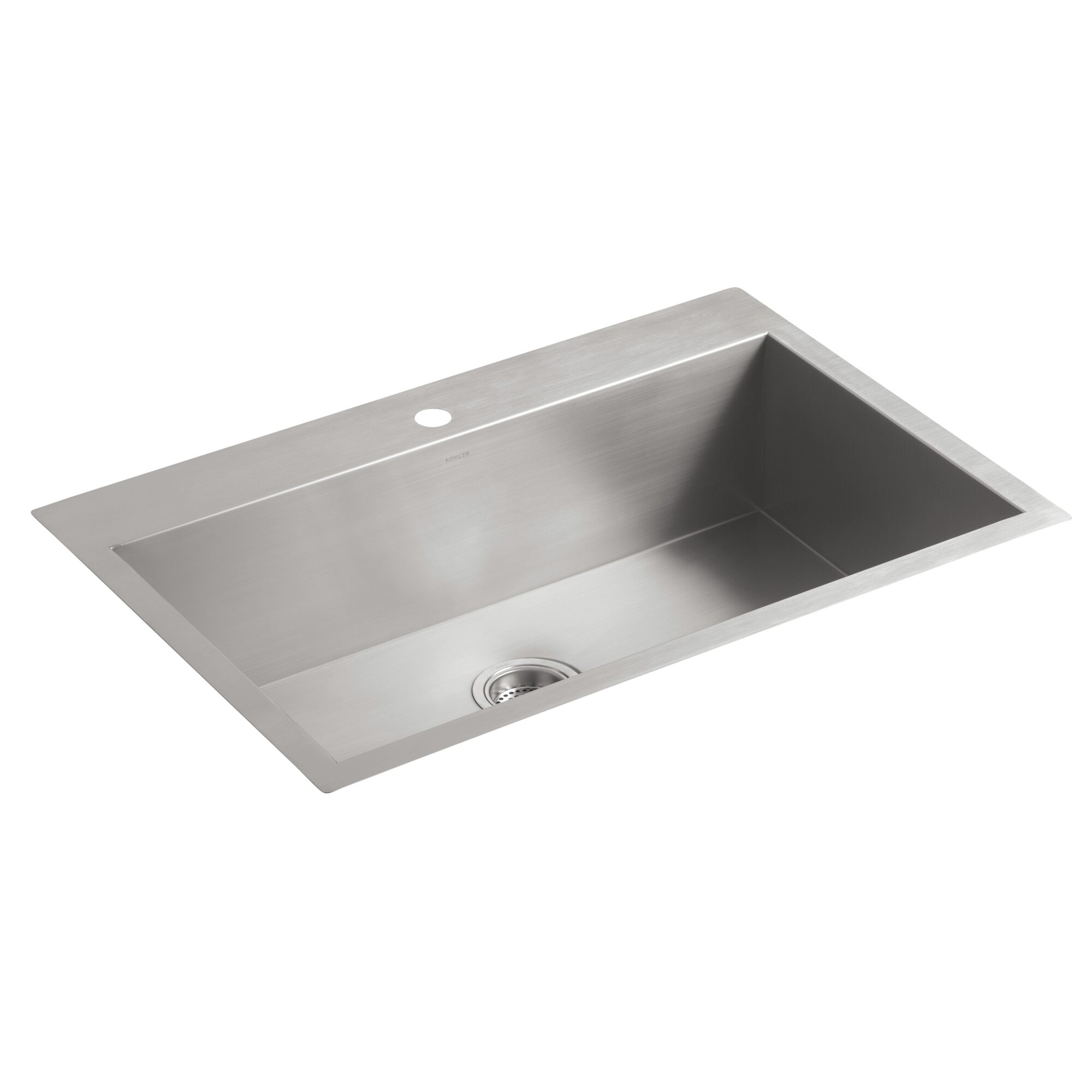 vault 33 x 22 x 9 516 top mount - White Single Basin Kitchen Sink