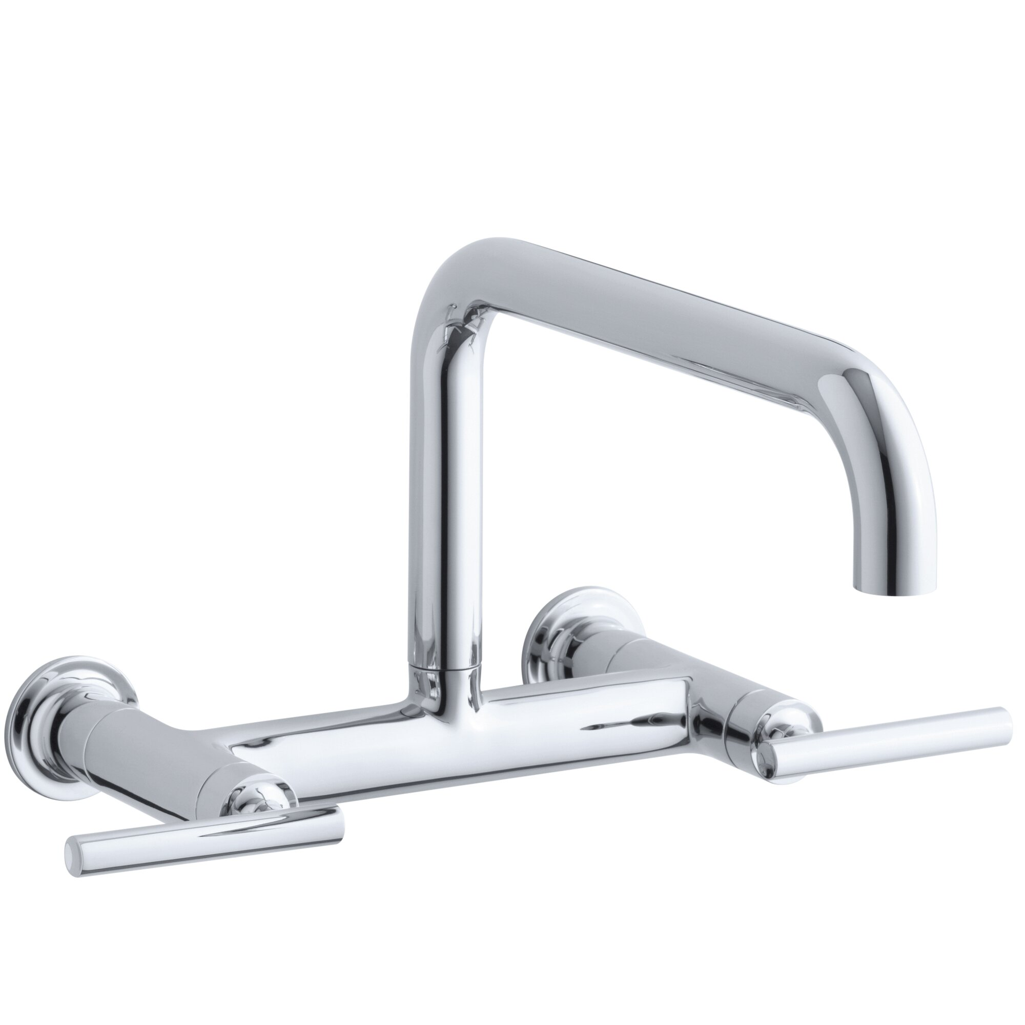 Purist Two Hole Wall Mount Bridge Kitchen Sink Faucet With 13 7