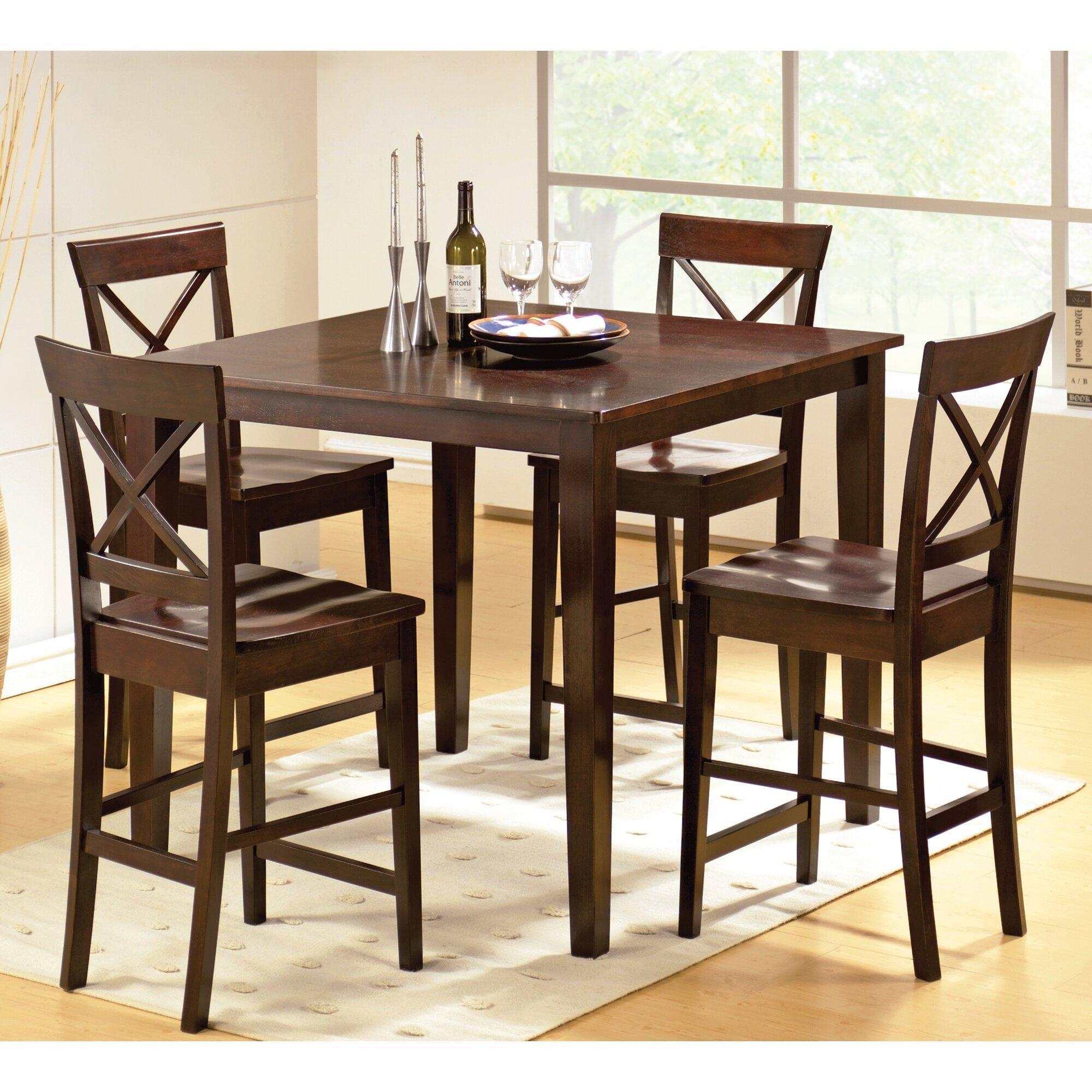 Steve Silver Furniture Cobalt 5 Piece Counter Height Dining Set ...