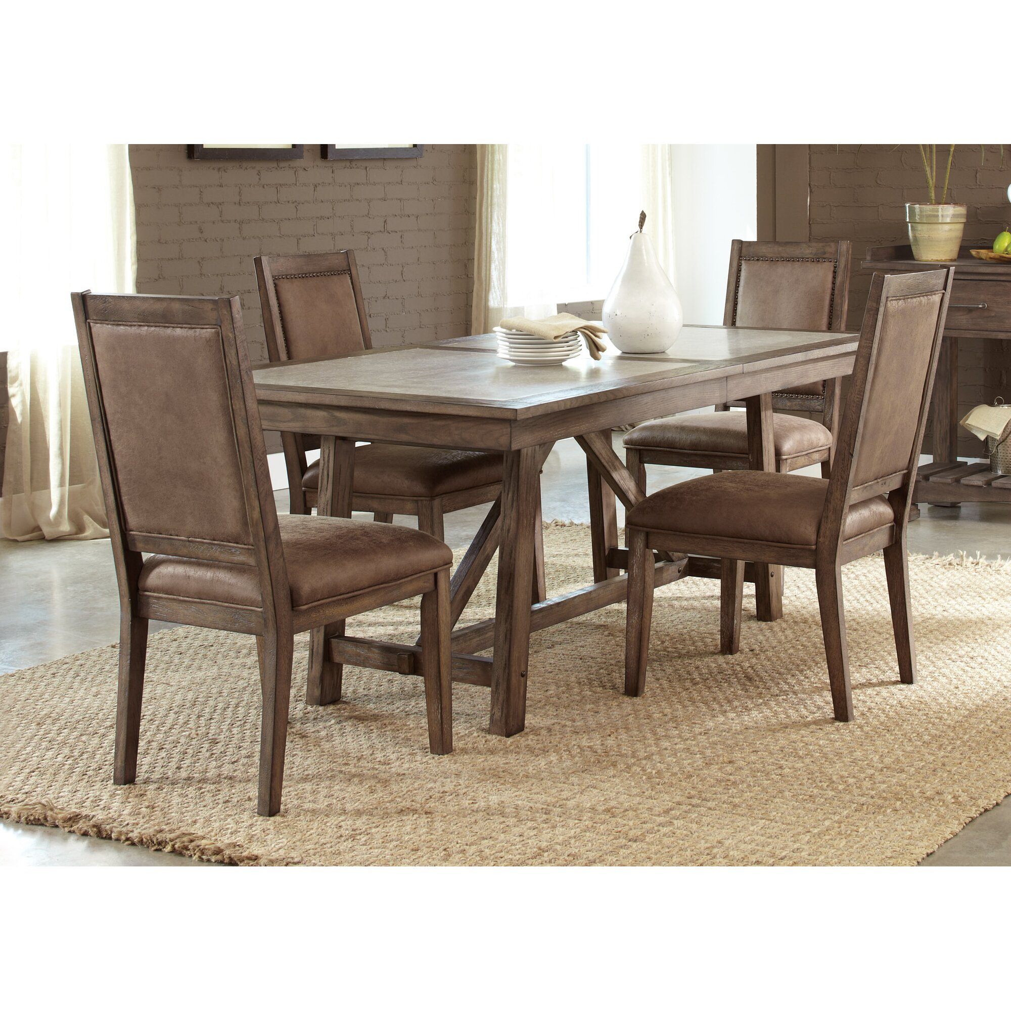 Liberty Furniture Stone Brook Trestle Dining Table & Reviews | Wayfair