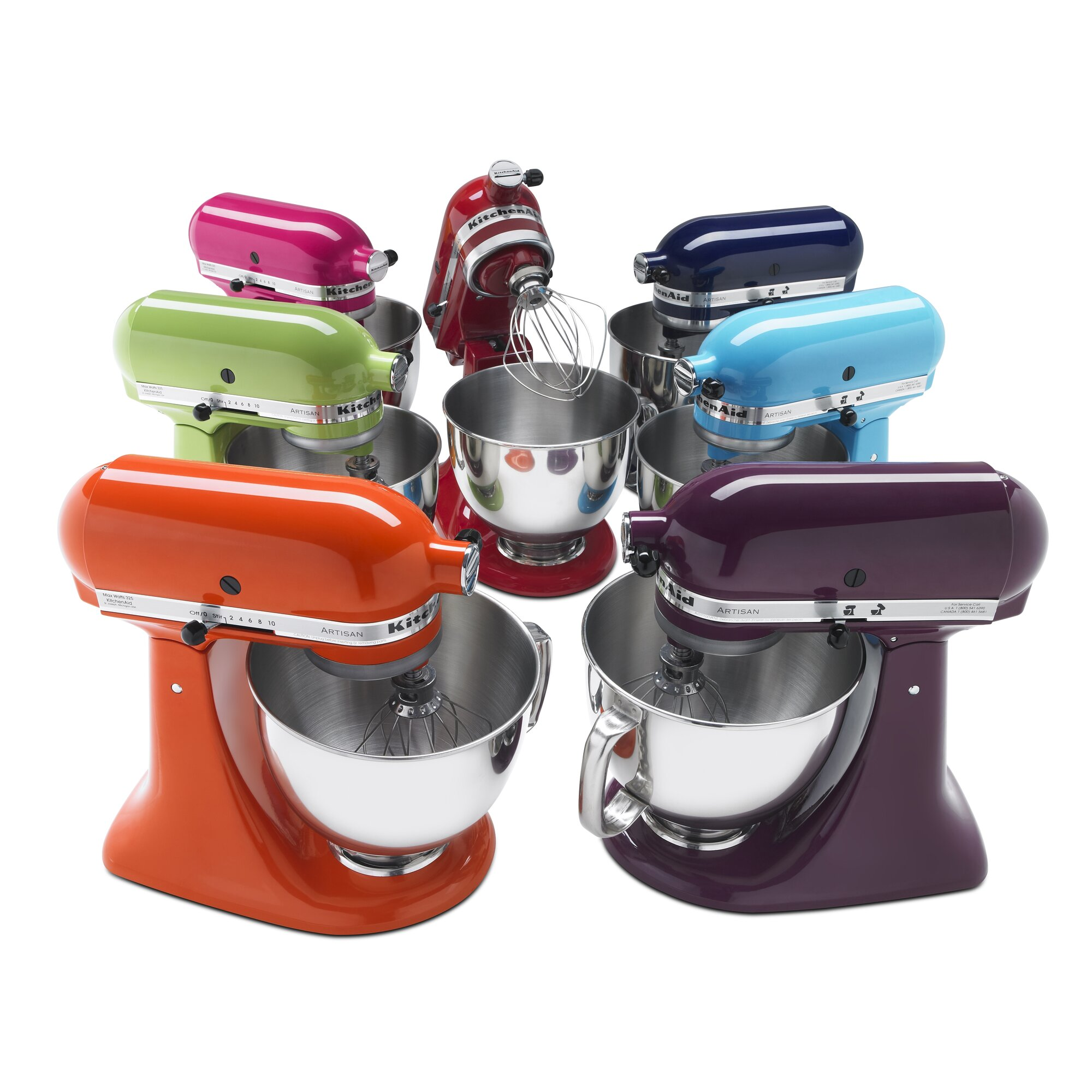 Kitchenaid stand mixers colors - Artisan Series 5 Qt Stand Mixer With Stainless Steel Glass Bowls
