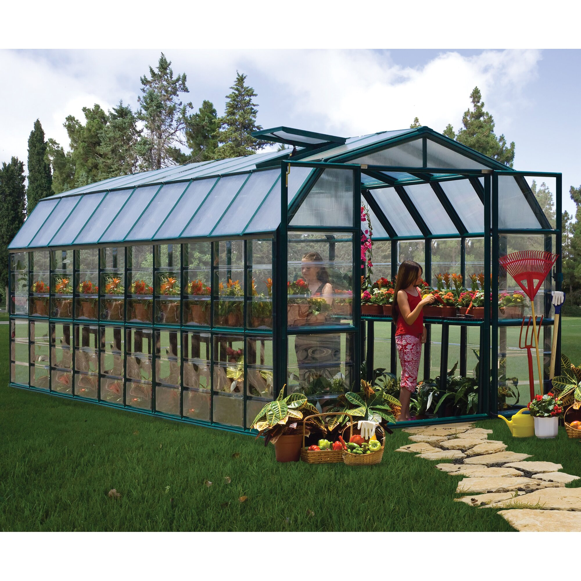 Grand Gardener 2 Clear 8 Ft W X 20 Ft D Greenhouse