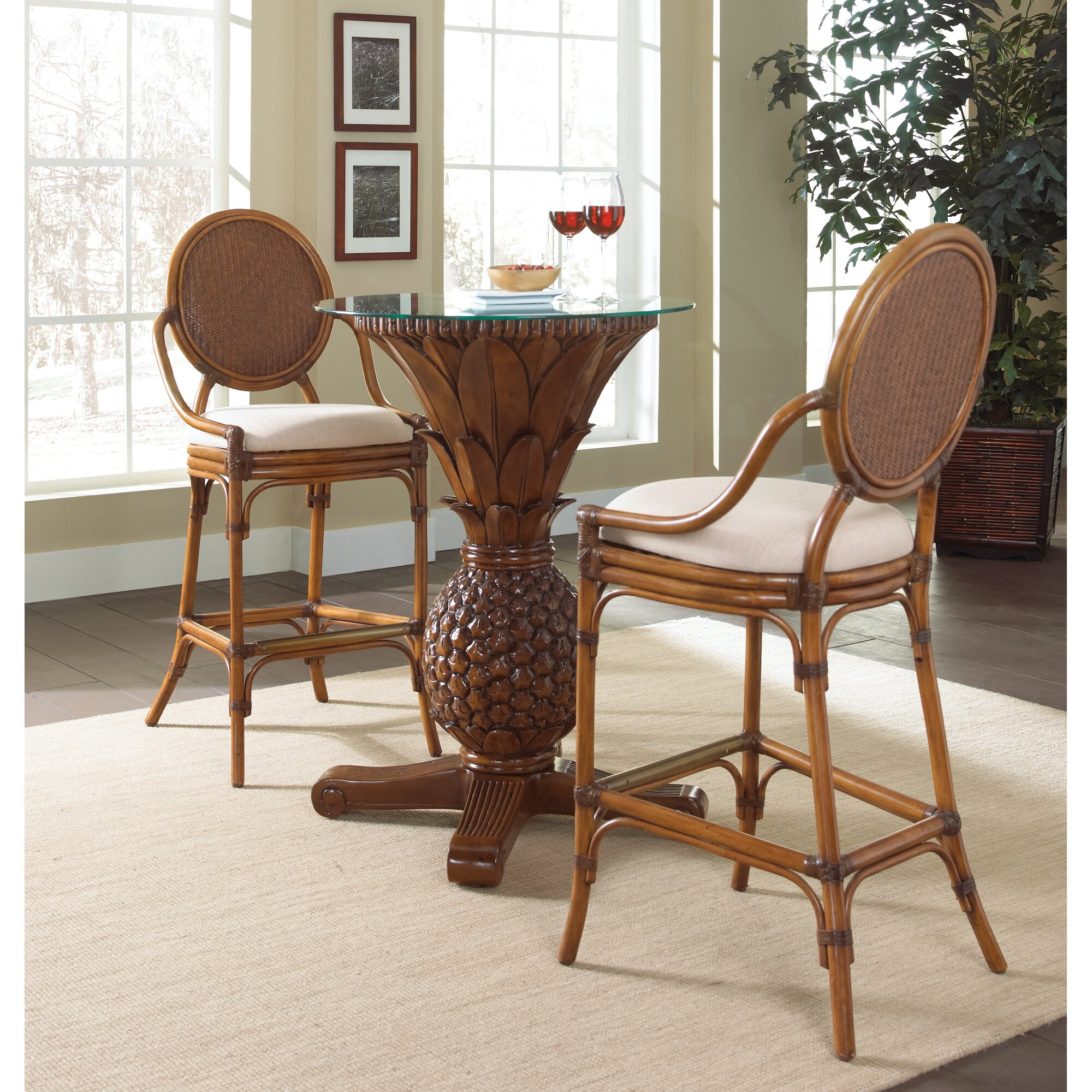Kitchen pub table and chairs - Oyster Bay 3 Piece Pub Table Set