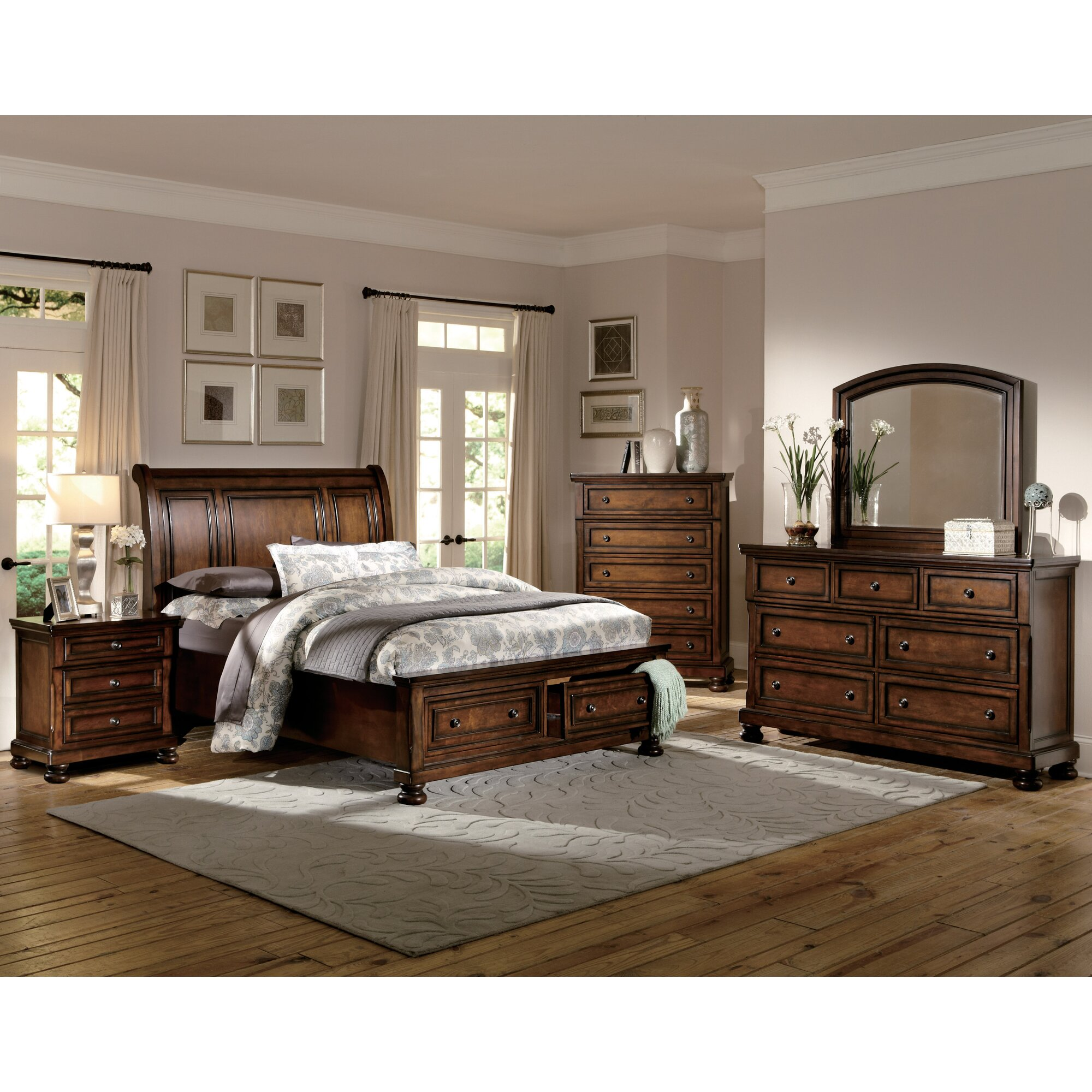 Woodhaven Hill Cumberland Panel Customizable Bedroom Set & Reviews ...
