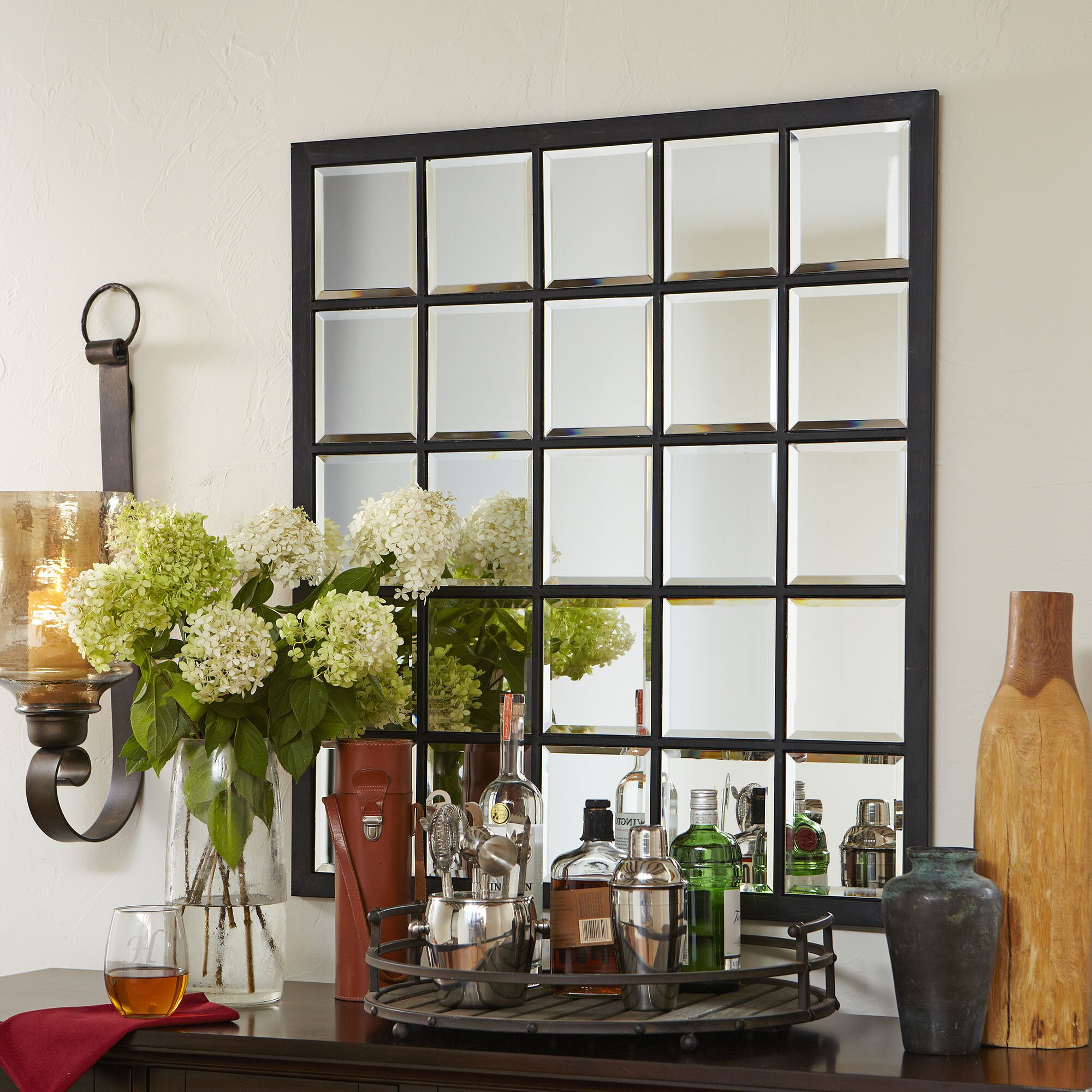 Birch Lane™ Wells Square Mirror & Reviews | Wayfair