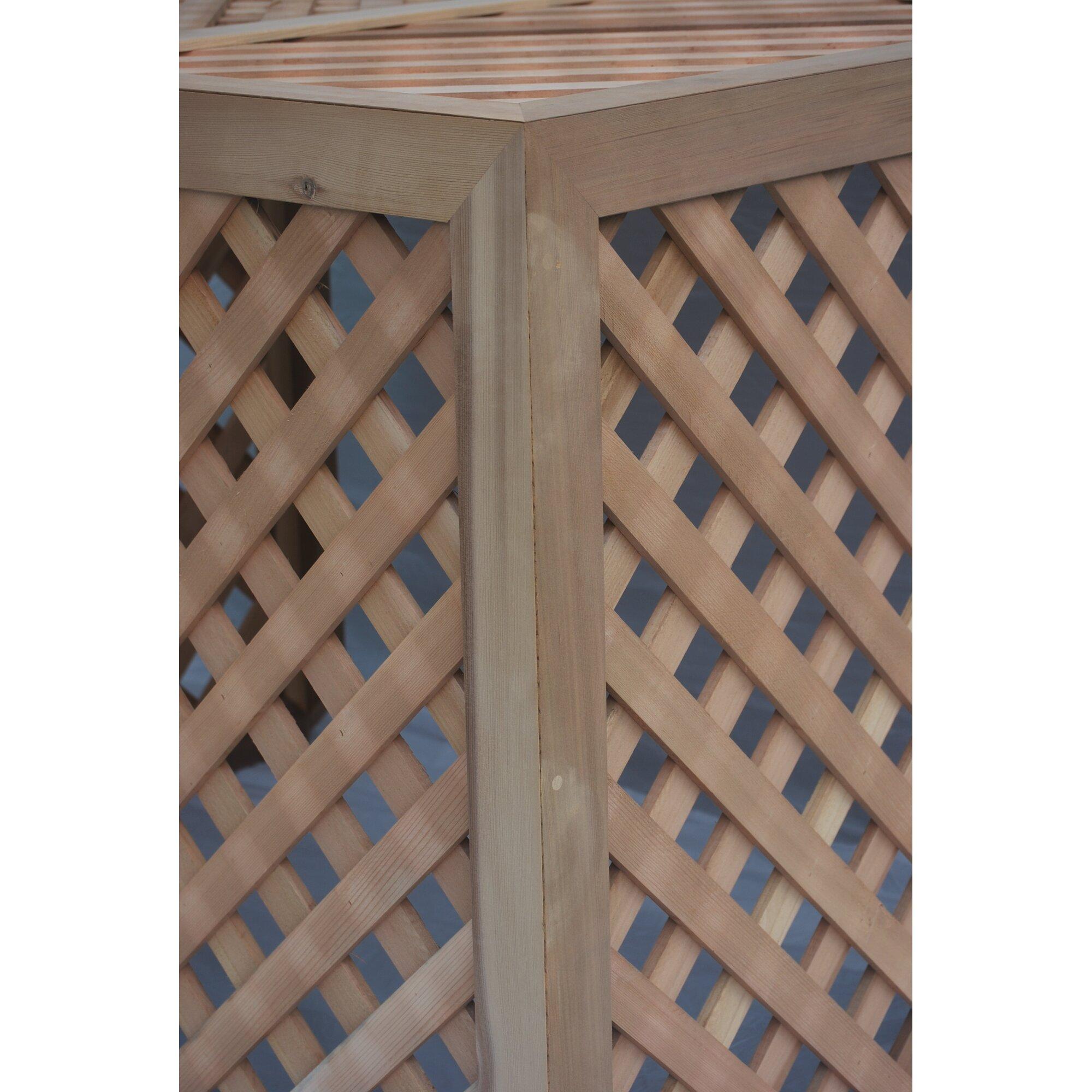 Grown for you wood lattice panel trellis wayfair supply for Wood lattice trellis