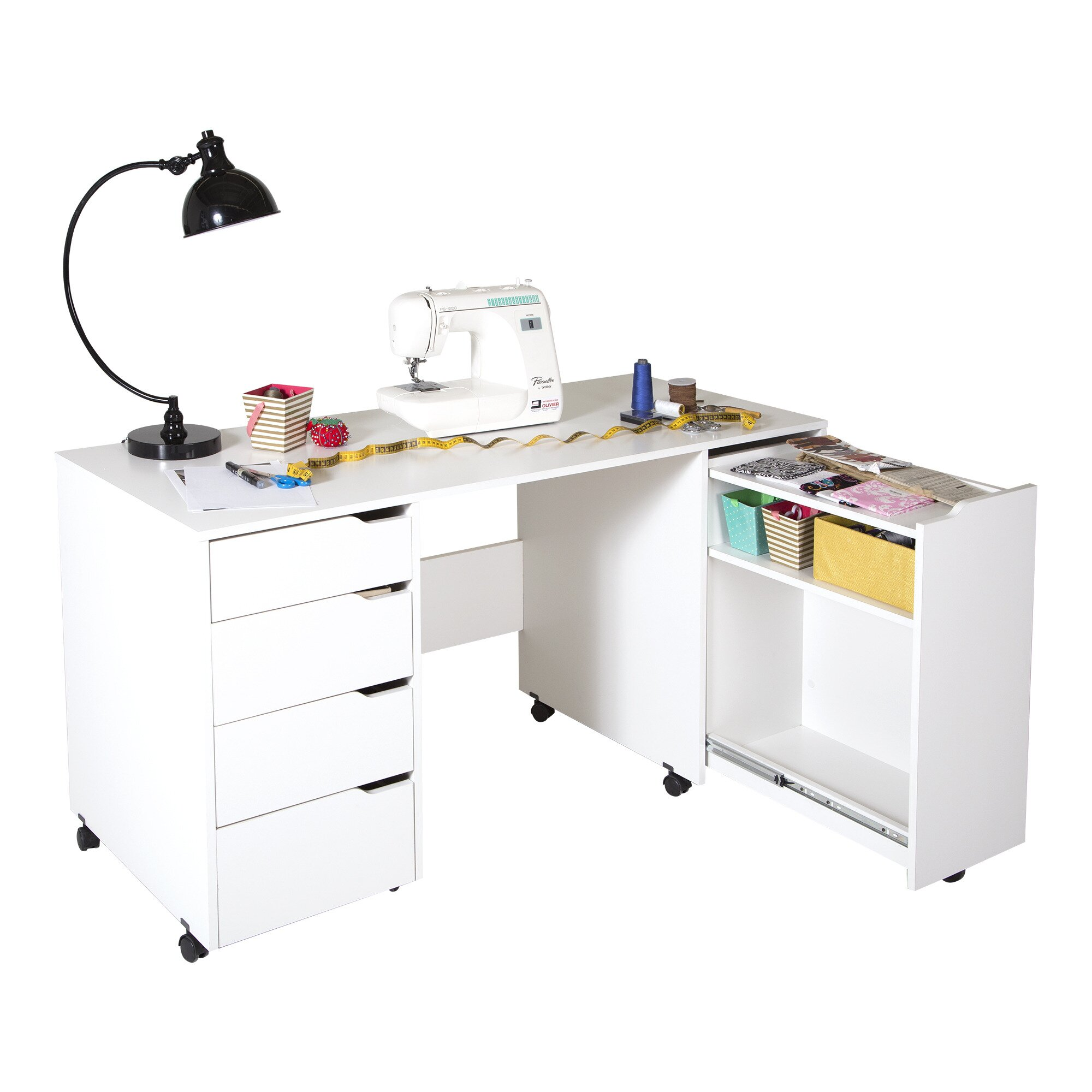 South Shore Crea 5813quot W x 2363quot D Sewing Table  : Crea581322Wx236322DSewingTable from www.wayfair.ca size 2000 x 2000 jpeg 199kB