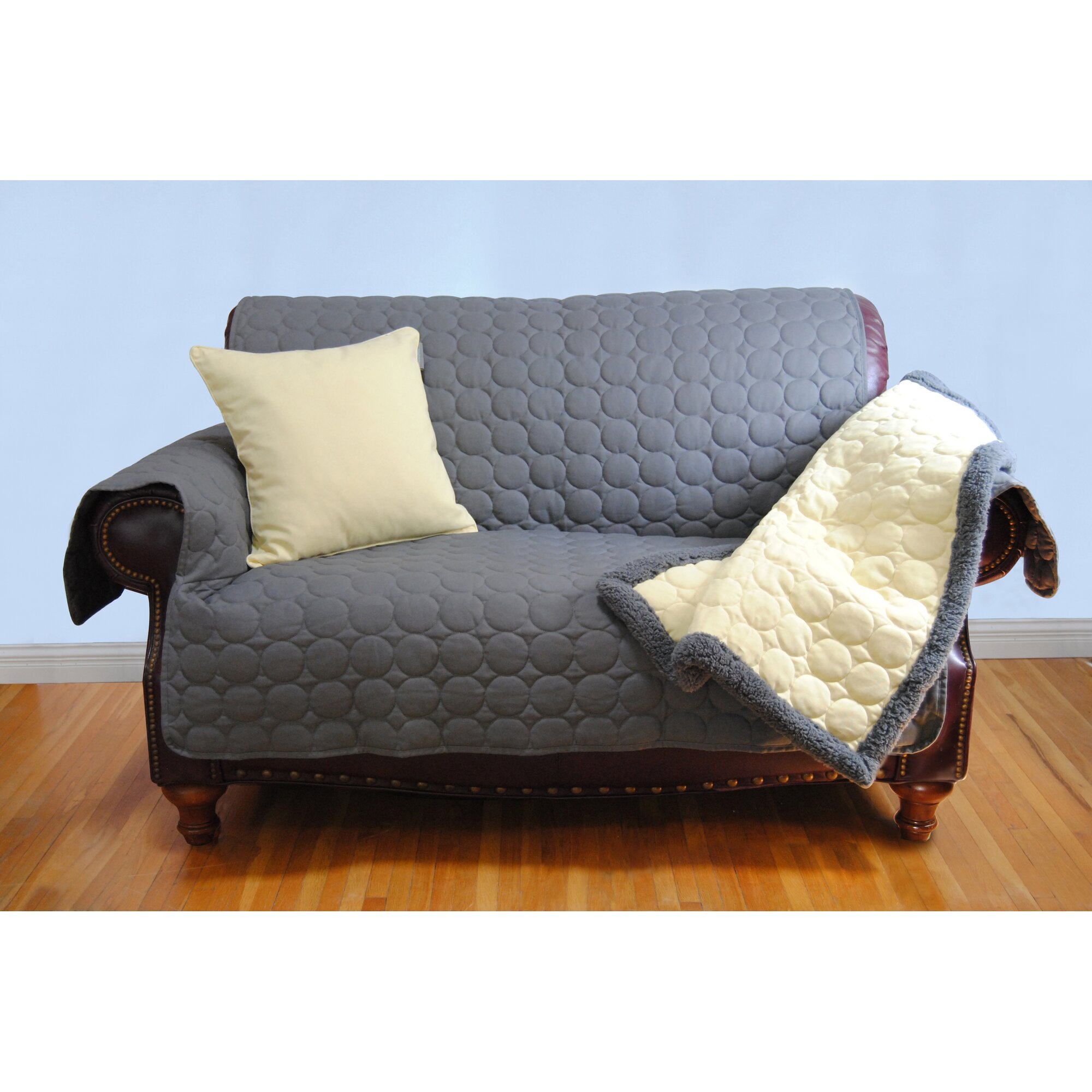 EZ Living Home Circle Water Repellent Quilted Sofa Protector & Reviews | Wayfair