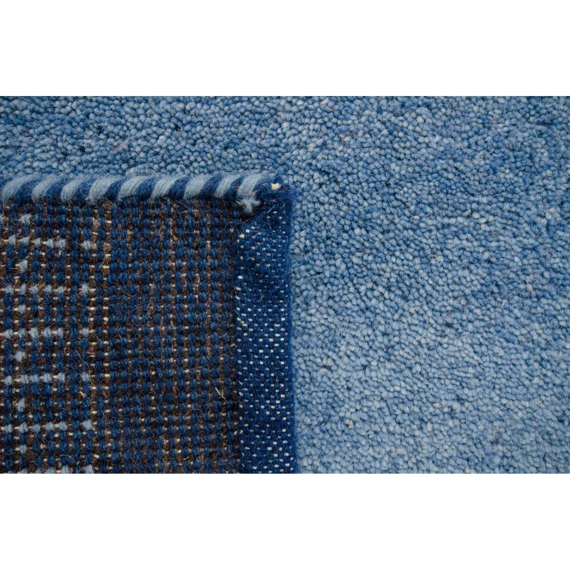 parwis handgekn pfter teppich indo gabbeh chenar in blau. Black Bedroom Furniture Sets. Home Design Ideas