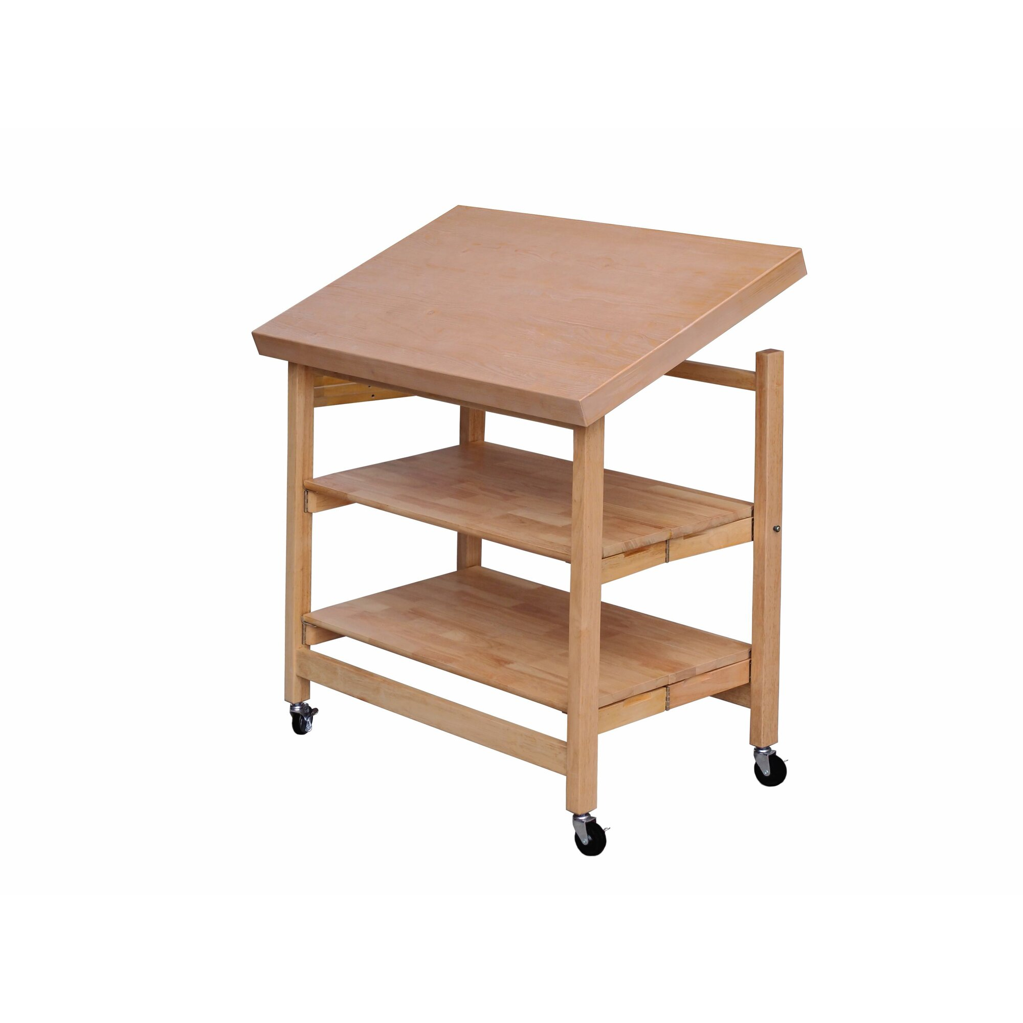 Origami Folding Kitchen Island Cart With Wheels Outstanding