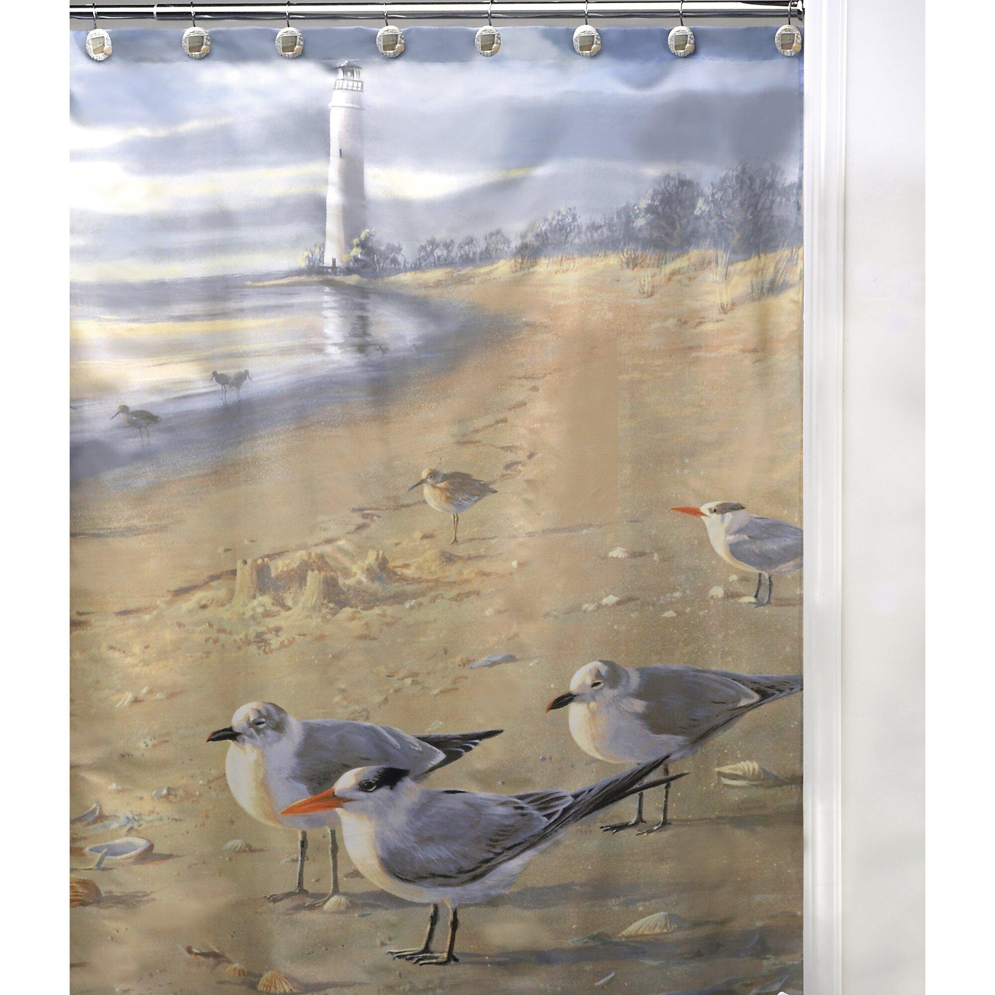 Beachy shower curtains - Zenna Home India Ink Seaside Serenity Shower Curtain Coastal