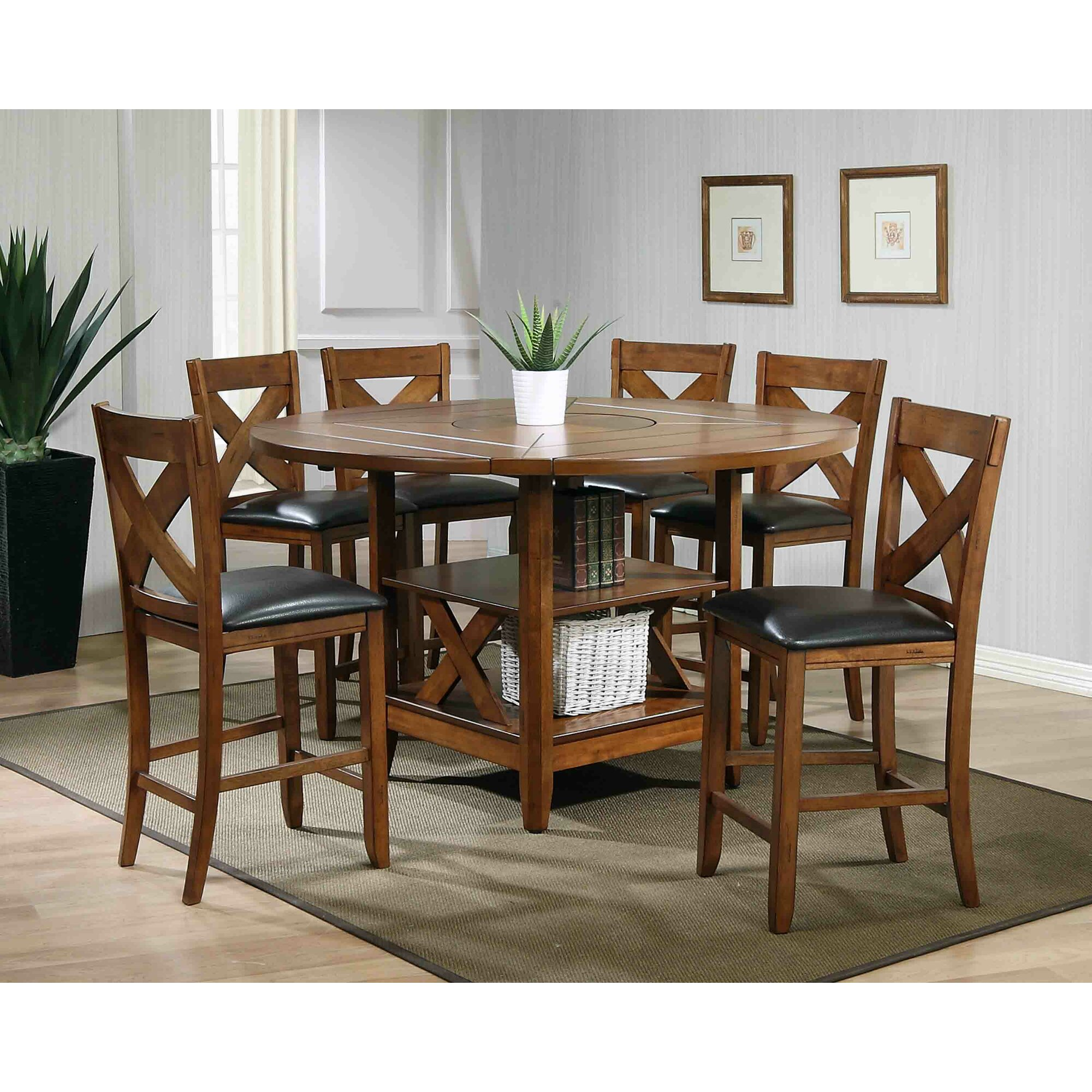Ultimate Accents Lodge 7 Piece Counter Height Dining Set & Reviews ...