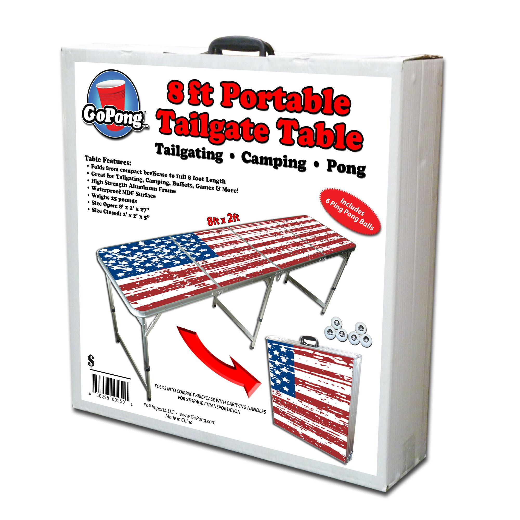 Beer pong table dimensions - 8 Foot Beer Pong Table Tailgate Table
