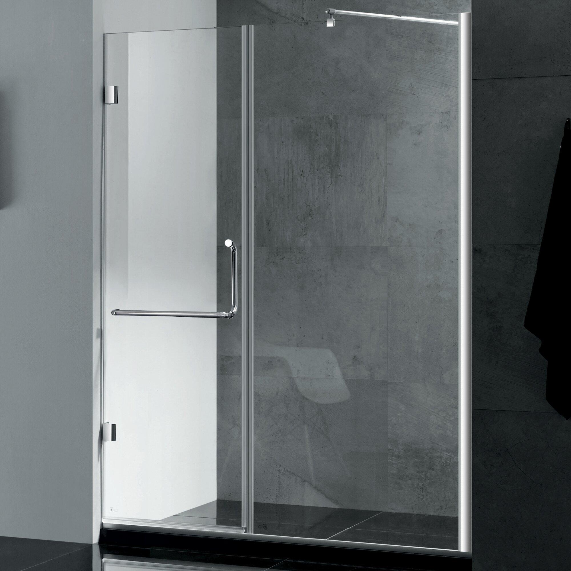 Wet Republic Prima 59'' x 72'' Hinged Shower Door & Reviews   Wayfair