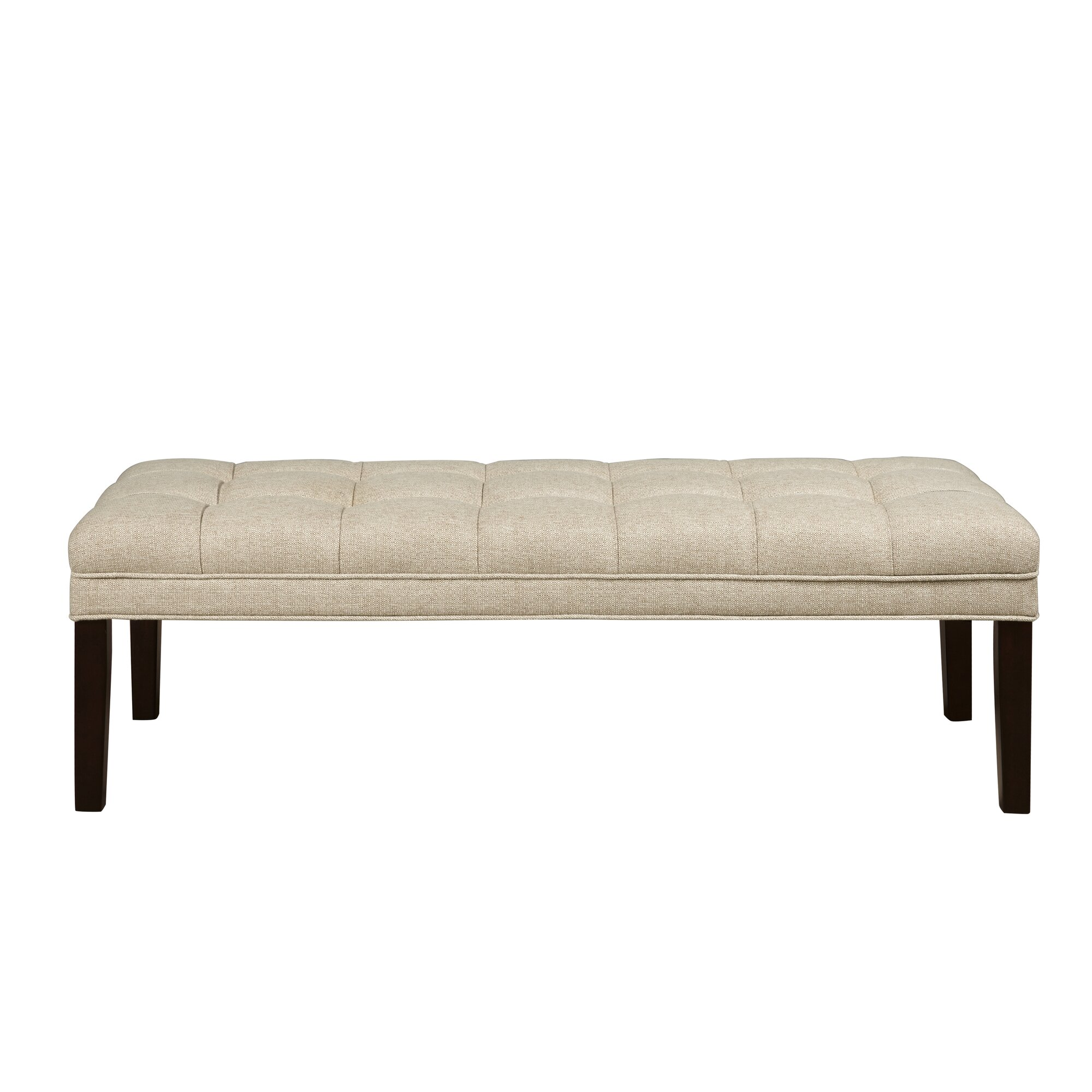 Bedroom bench with arms - Upholstered Tufted Bedroom Bench