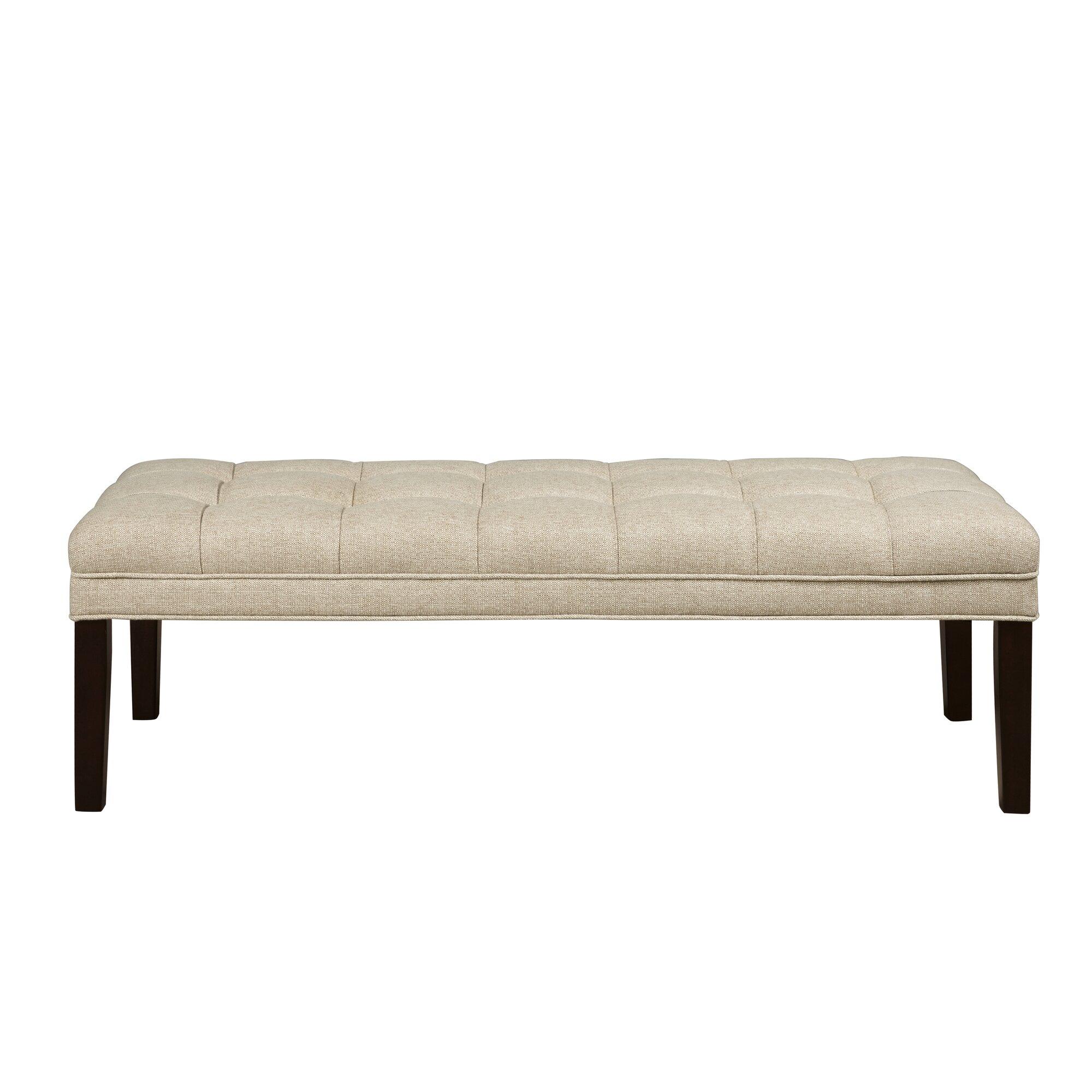 Bedroom bench dimensions - Upholstered Tufted Bedroom Bench