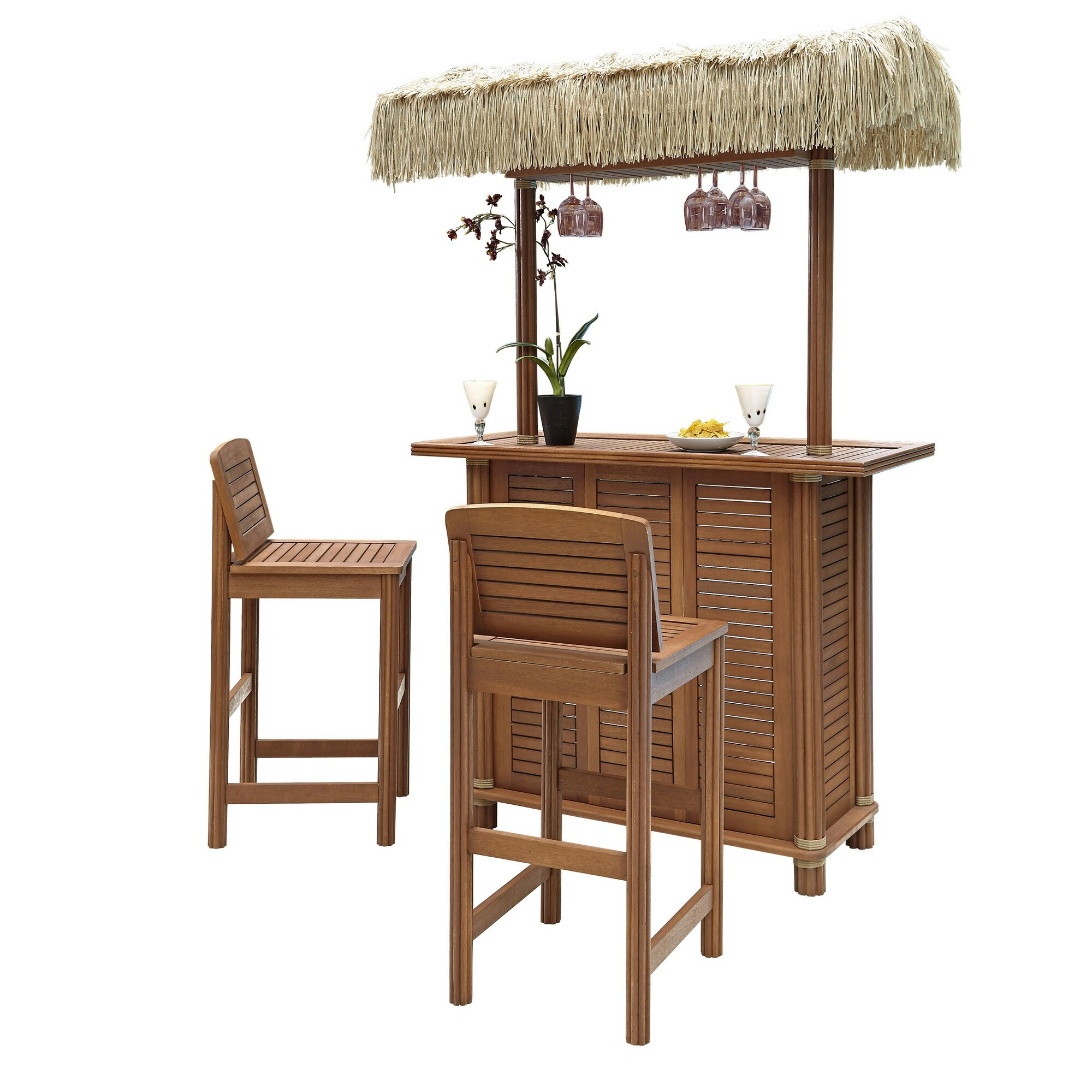 Home Styles Bali Hai 3 Piece Tiki Bar Set & Reviews