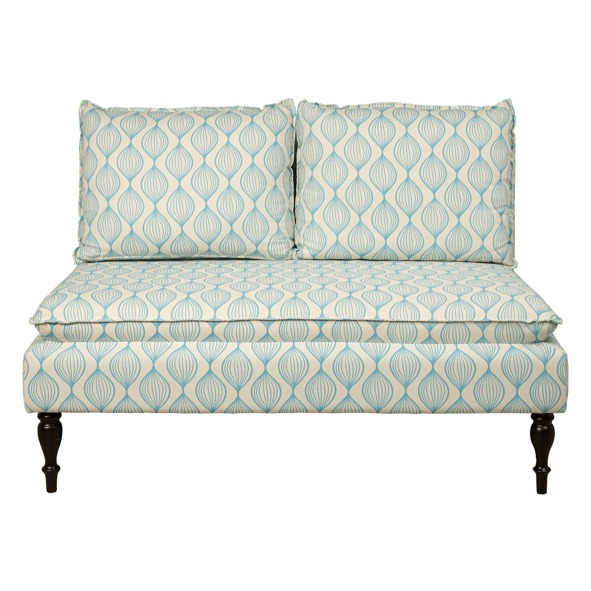 Banquette Couch: PRI Upholstered Graphic Print Banquette Sofa & Reviews