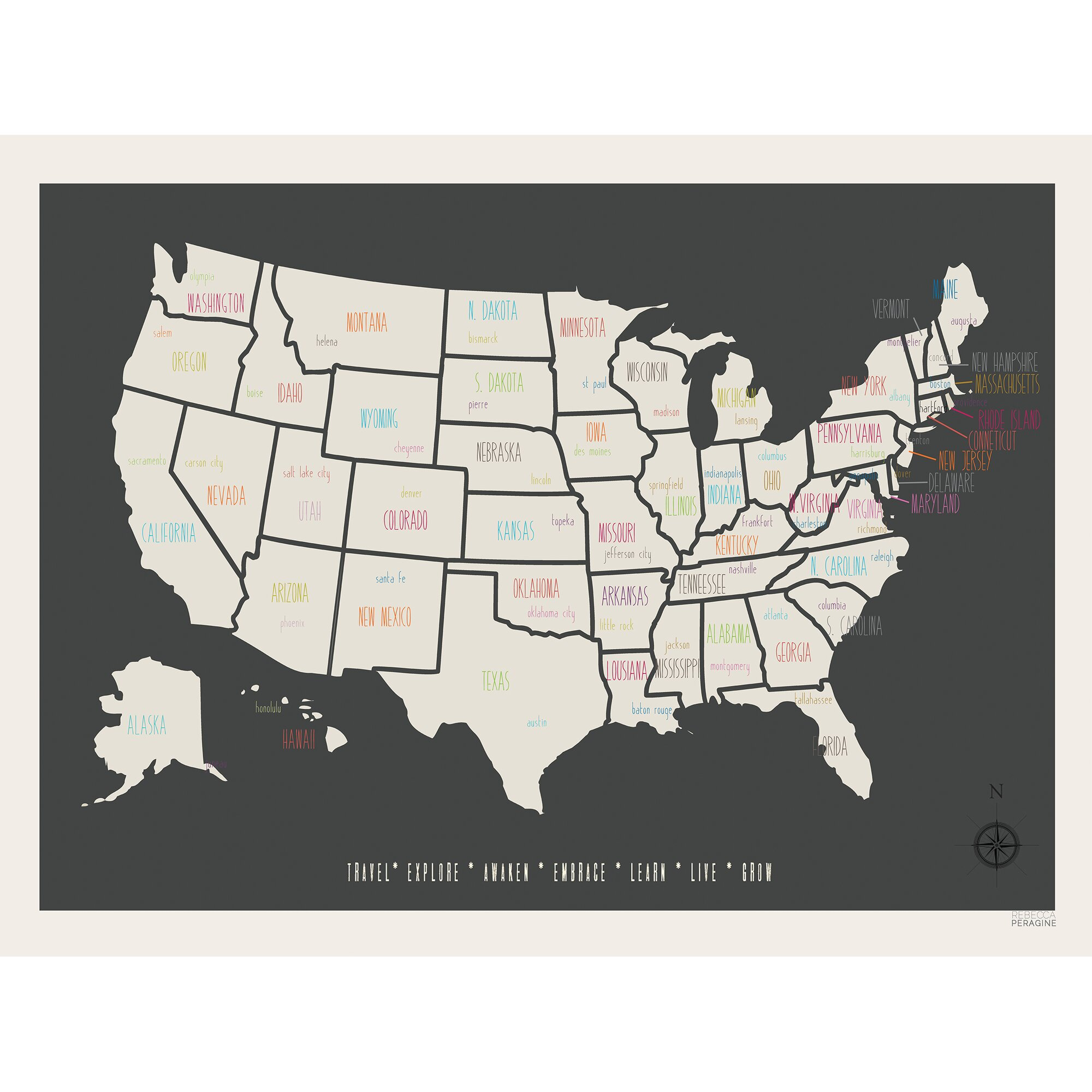 US License Plate Map Crafthubs I Want This NOW Because Of Reasons - Kansas cities map usa